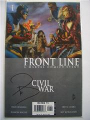 Civil War Front Line #1 Dynamic Forces Signed Paul Jenkins DF COA Ltd 200 Marvel comic book